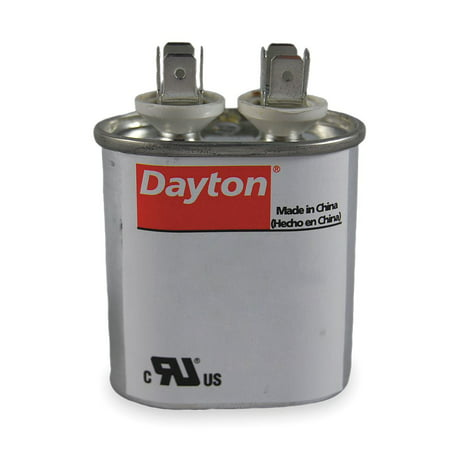 Dayton Oval Motor Run Capacitor, 7.5 Microfarad Rating, 370VAC Voltage - - Capacitor Voltage Rating