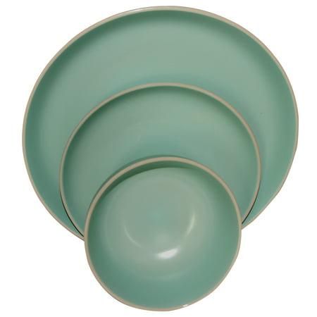 Gibson Home Rockaway 12 Peice Stoneware Dinnerware Set In Matte (Home Stoneware)