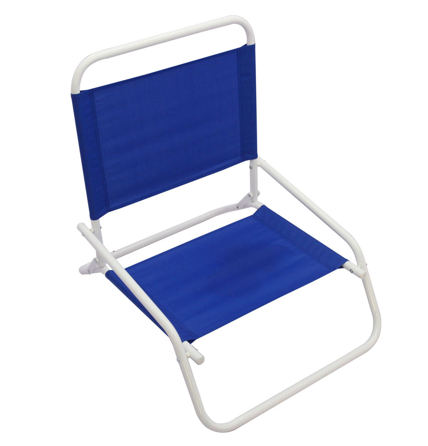 Mainstays Folding 1 Position Beach Chair Blue Brickseek