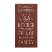Fleur De Lis Living 'Happiness is a Kitchen Full of Family' Print on Wood