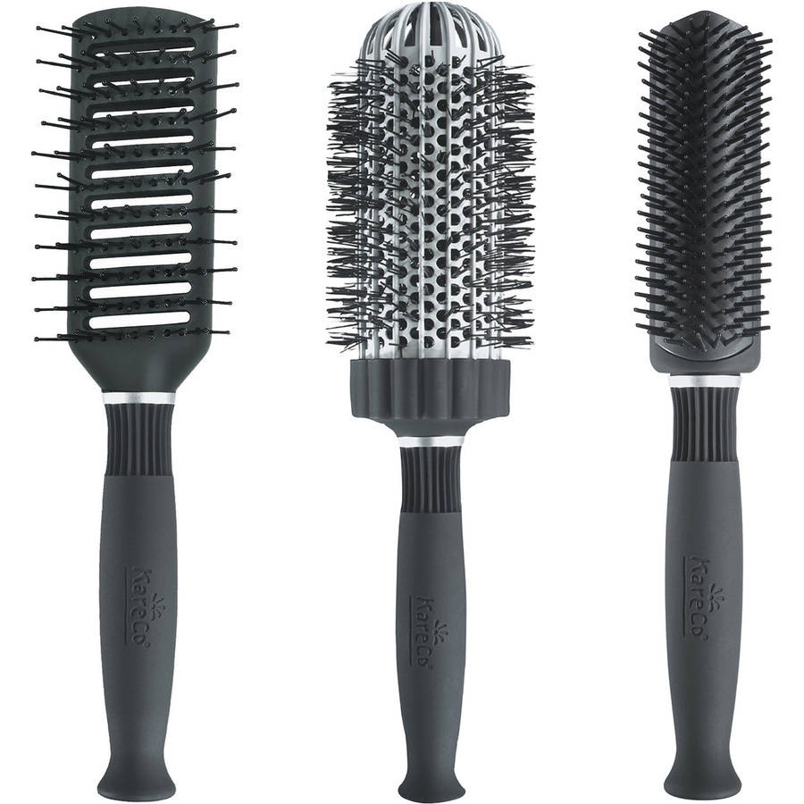 KareCo Big Hair Brush Set, 3 pc