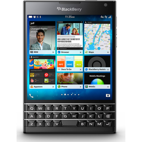 BlackBerry Passport GSM BlackBerry 10.3 OS Smartphone (Unlocked), Black