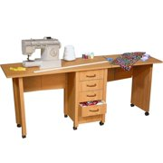 Venture Horizon 1019-21BL Double Folding Mobile Desk black