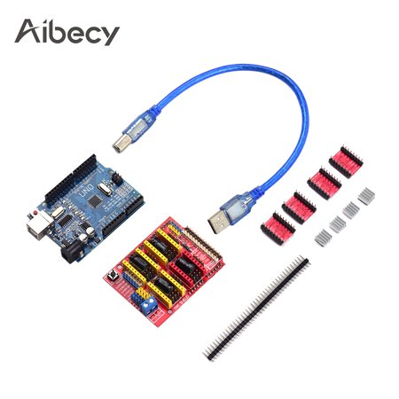 Aibecy 3D Printer Accessories CNC Shield UNO- Board A4988 Driver Kit With Heat Sink For Arduino Engraver 3D Printer Star Printer Drivers