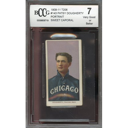 1909 11 T206 Sweet Caporal  143 Patsy Dougherty  Vg Or Better  Bgs Bccg 7