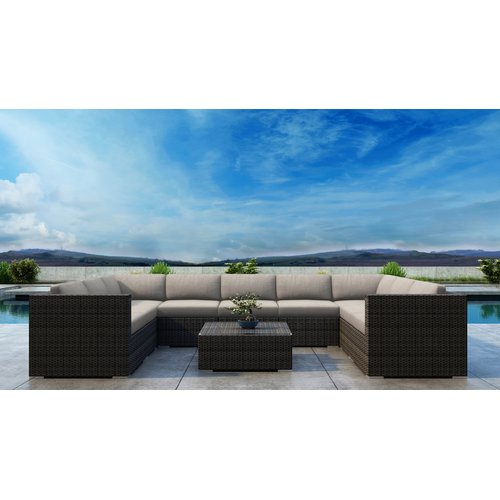 Orren Ellis Gilleland 10 Piece Sectional Set with Sunbrella Cushion