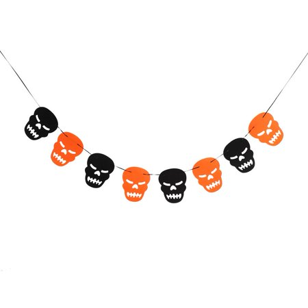 Anauto Happy Halloween Fabric String Banner Hanging Bunting Flag Garland Decor Party Ornaments(#7), Hanging Flag, Halloween Garland