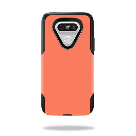 MightySkins Protective Vinyl Skin Decal for OtterBox Commuter LG G5 Case wrap cover sticker skins Solid Salmon (Salmon Skin Rolls)