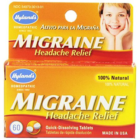 3 Pack - Hyland's Migraine Headache Relief All Natural 60 Tablets