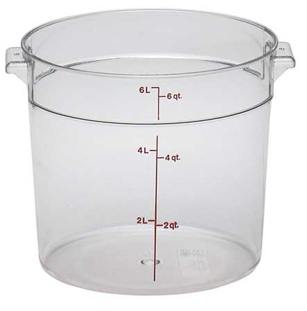 CAMBRO Round Contain.,Use Lid 4UKC1,PK12 CARFSCW6135