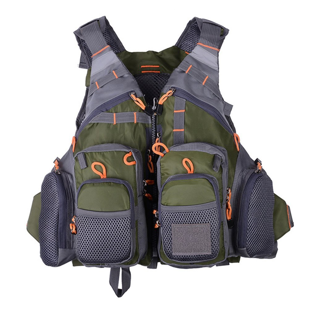 Multifunctional Fishing Quick Drying Mesh Fishing Vest With Mutil-Pockets by