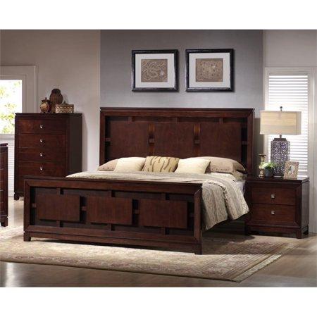 Picket House Furnishings Easton 3 Piece Queen Bedroom Set in Cherry