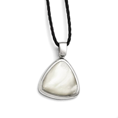 Stainless Steel Mother Of Pearl 2 Inch Extension Fabric Link Cord Chain Necklace Pendant Charm Gifts For Women For