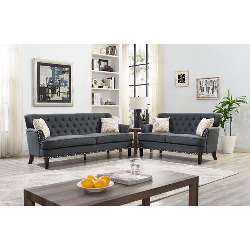 Charlton Home Easthampton 2 Piece Living Room Set   Walmart.com