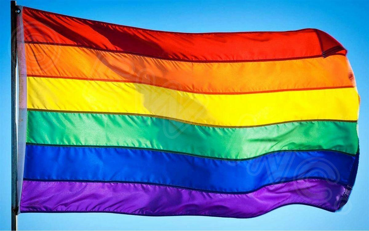 "2pcs Rainbow Flag 3 x 5 FT Gay Pride Lesbian 36/"" x 60/"" LGBT Flag with Grommets"