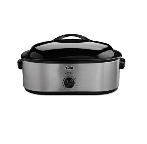 Oster 18-Quart 22-Pound Stainless Steel Roaster Oven with...