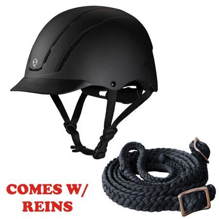 XS Troxel Dialfit Low Profile Spirit Horse Riding Helmet Black Duratec W/ (Troxel Helmet Size Chart)