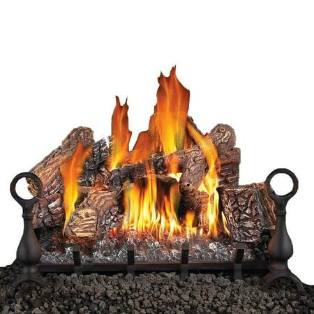 24 Inch Natural Gas Burner - Fiberglow 24 Inch Vented Log Burner Set Insert for Natural Gas Fireplaces