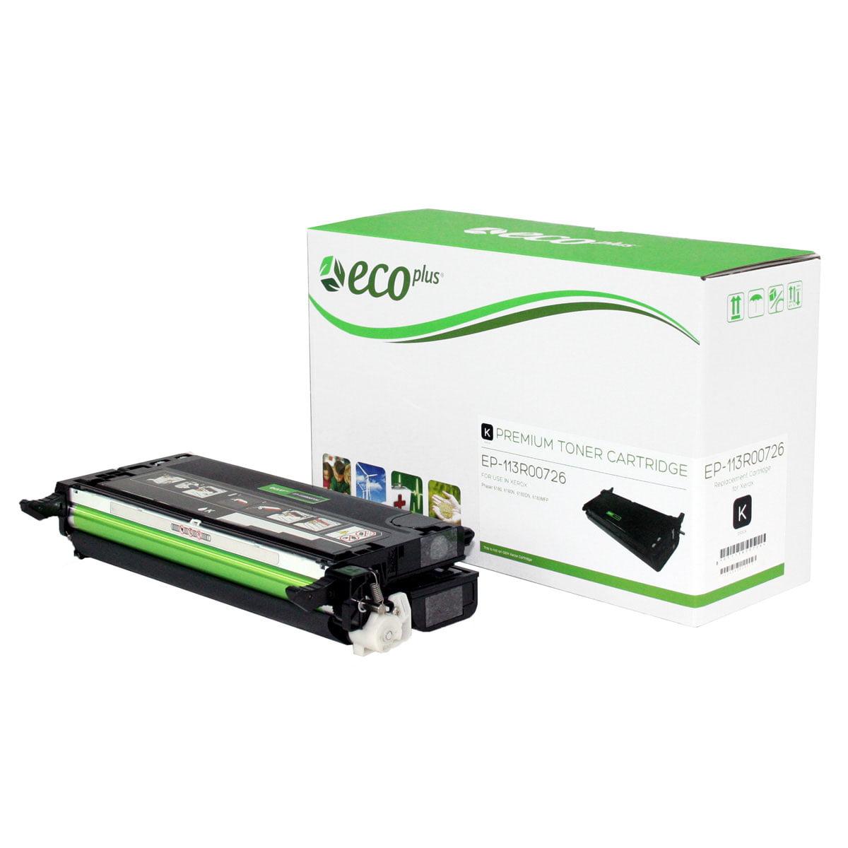 ECOPlus ™ Remanufactured Toner Cartridge for Xerox 113R00726 (Premium Quality TONER CTG, BLACK, 8K YIELD)