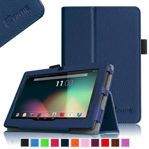 "Fintie Folio Case for Dragon Touch 7"" Tablet (Fit for Model # Y88X / Y88 / A13 / Q88 ONLY) with Stylus Holder, Navy"