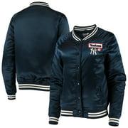 New York Yankees New Era Satin Raglan Full-Snap Jacket - Navy
