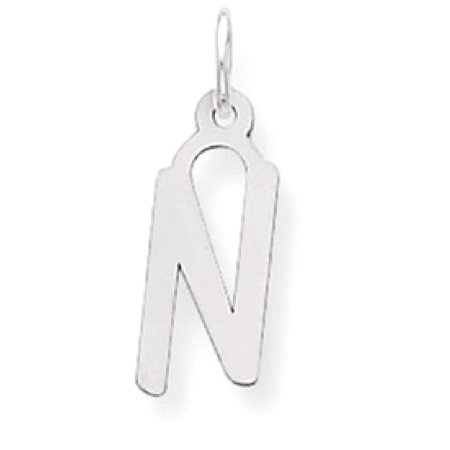 (ICE CARATS 925 Sterling Silver Medium Slanted Block Initial Monogram Name Letter N Pendant Charm Necklace Fine Jewelry Ideal Gifts For Women Gift Set From Heart)