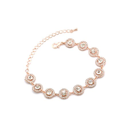 Wedding Bracelet Rose Gold Plating Link Bracelet (Engagement Wedding Bracelet)