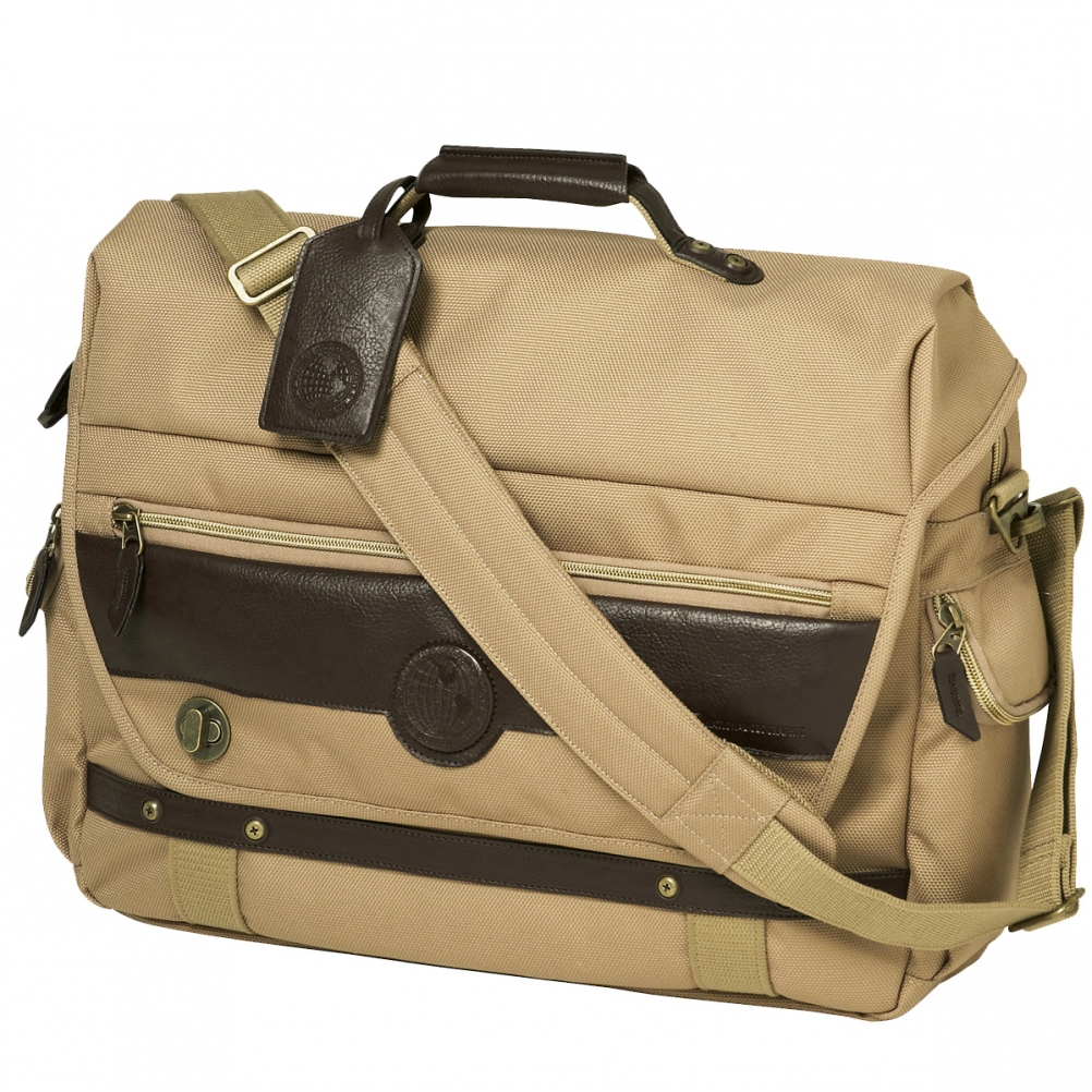 Travelpro National Geographic KONTIKI Messenger Bag - KHAKI - NG2121210
