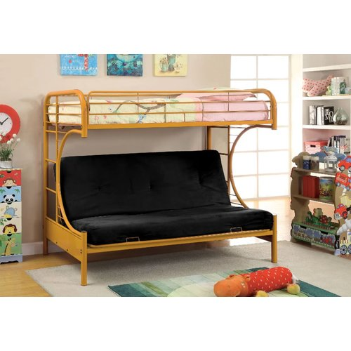 Zoomie Kids Quezada Twin Over Full Futon Bunk Bed