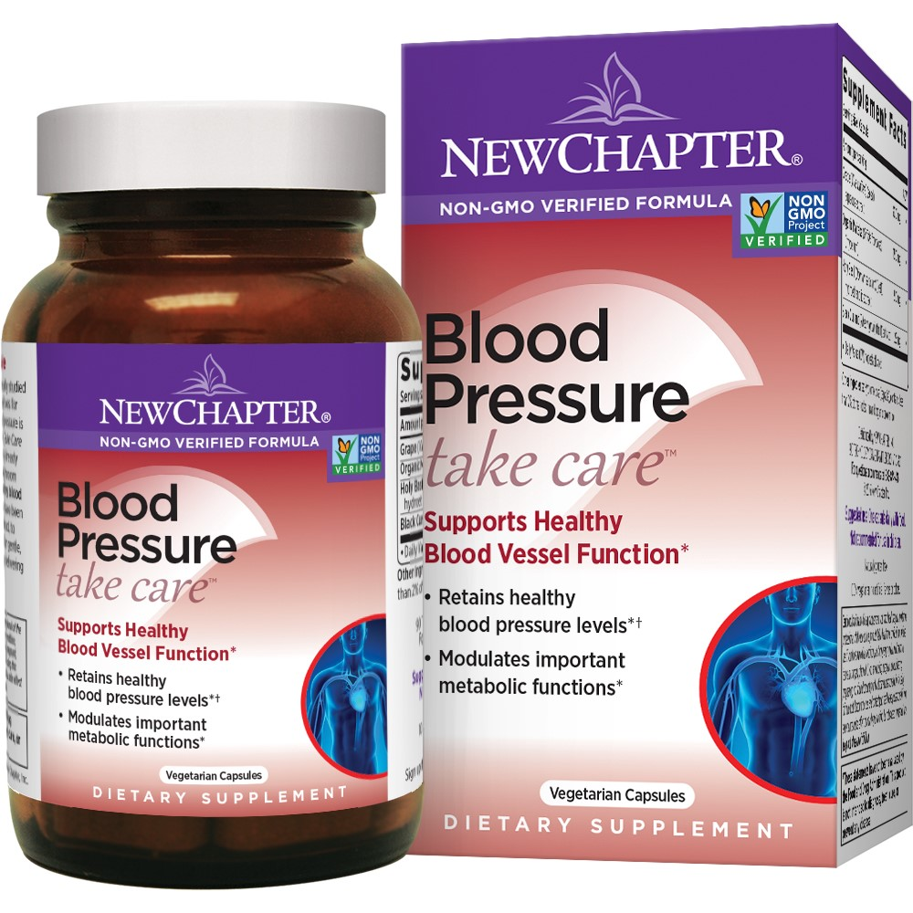 New Chapter Blood Pressure Take Care Vegetarian Capsules, 60 Ct