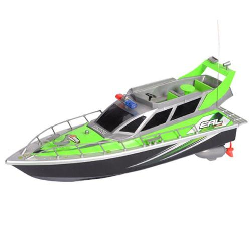 RC Patrol Boat High Speed Radio Controlled Ship Watercraft - Green