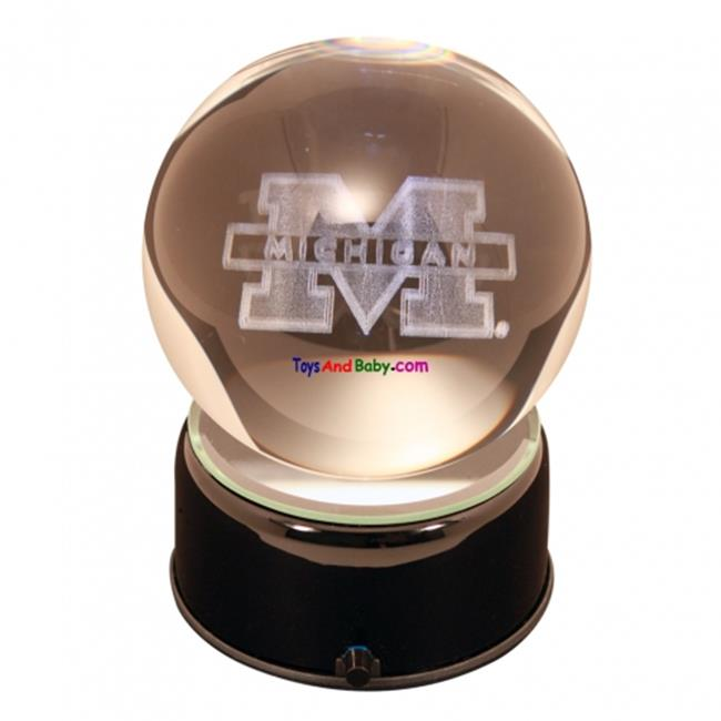 Paragon Innovations MichiganULEM Michigan University logo etched in a musical  turning crystal ball