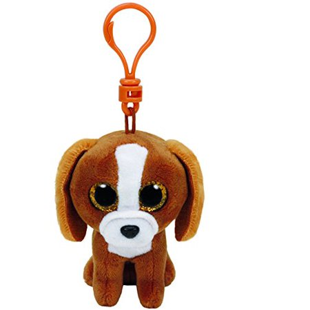 Ty Beanie Boos Tala Brown Dog Clip With Glitter