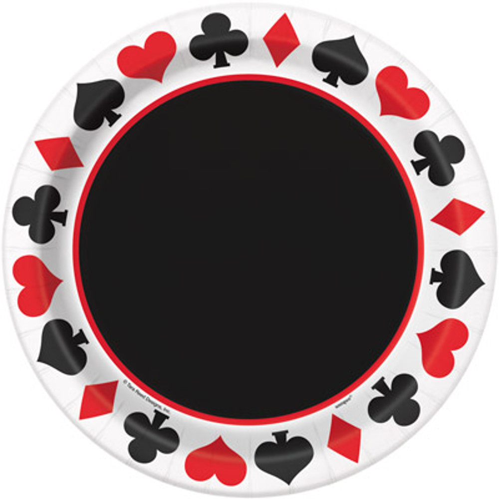 "9"" Casino Party Plates, 8ct"