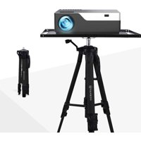 VANKYO Aluminum Tripod Projector Stand, Adjustable Laptop Stand, Multi-Function Stand, Computer Stand Adjustable Height 17'' to 46'' for Laptop with Plate and Carrying Bag (Black