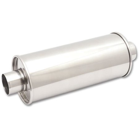 Vibrant Performance 1118 VIB1118 STREETPOWER ROUND MUFFLER, 2.5IN INLET/OUTLET (CENTER-CENTER)