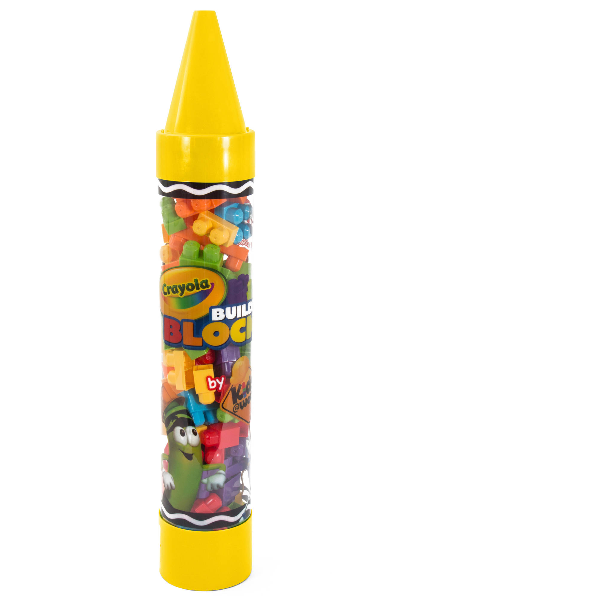 """Crayola Kids@Work 80-Piece Blocks in 36"""" Giant Crayon Tube, Yellow by Amloid Corp."""