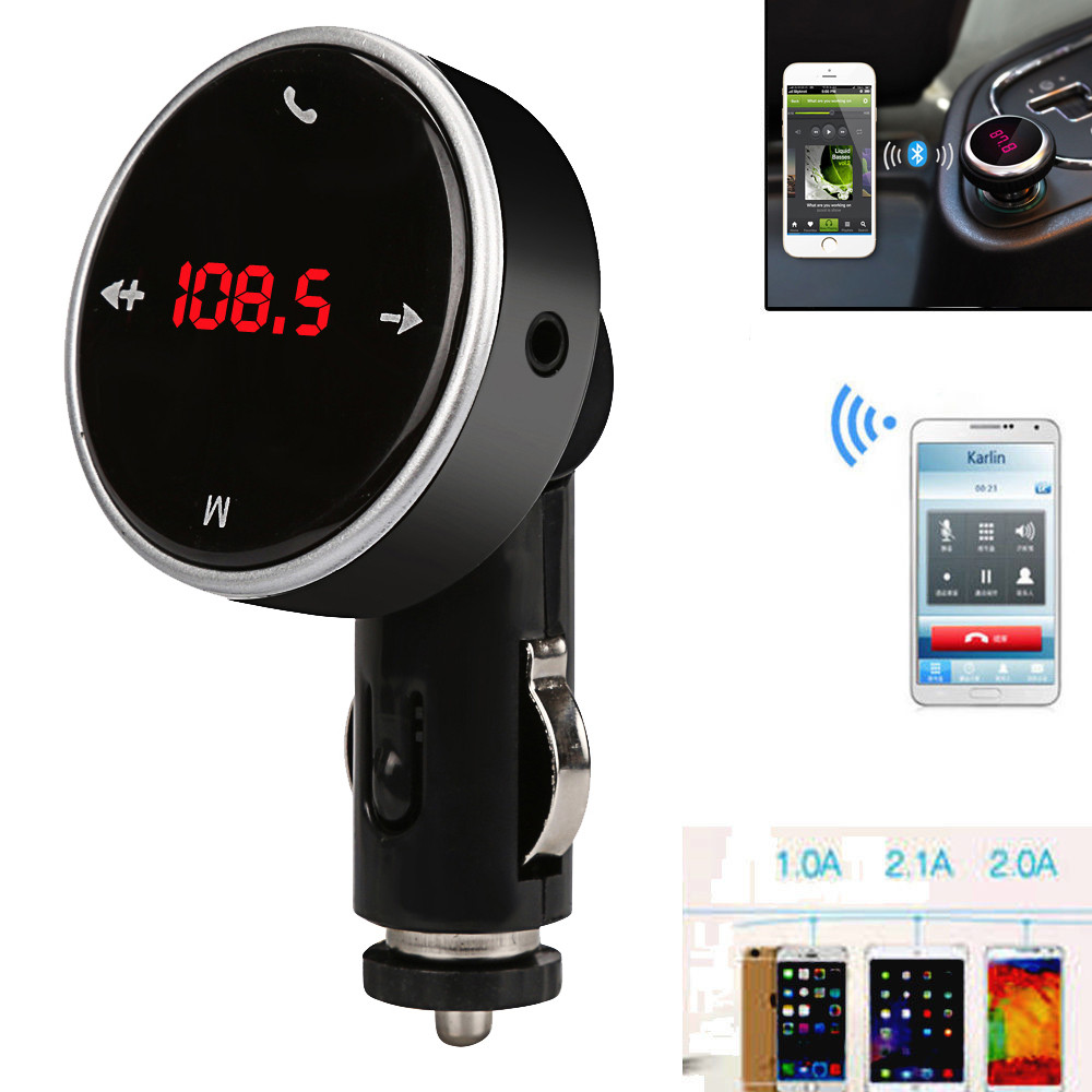 Iuhan Wireless LCD MP3 Player Car Kit SD MMC USB FM Transmitter Modulator