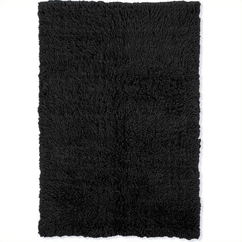 Linon Rugs Flokati Rectangular Area Rug in Black-5' x 8' - image 1 de 1