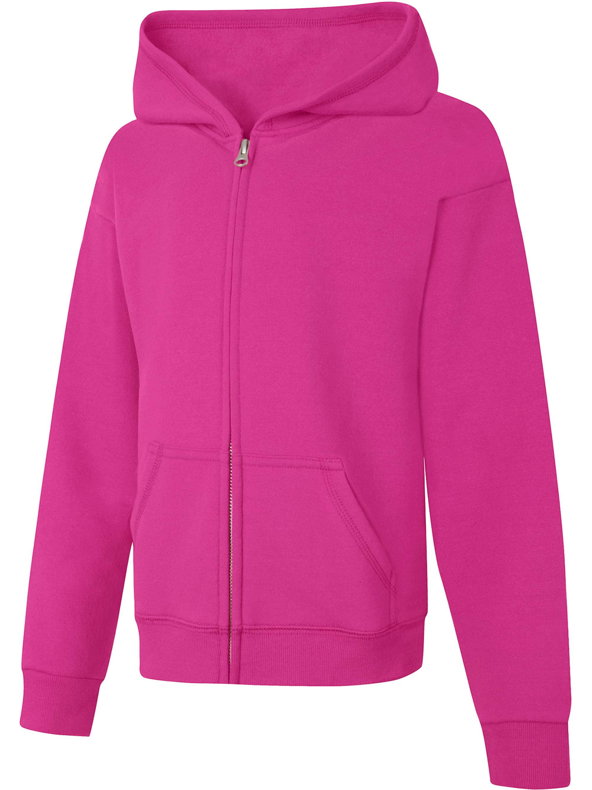 Urban Republic Big Girls Pink Solid Color Plush Soft Zippered Jacket 7-16