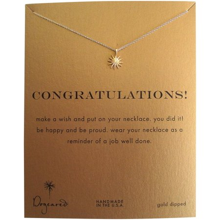 Dogeared Gold Necklace - Dogeared Congratulations Gold Dipped Starburst Reminder Boxed Necklace - MG1111