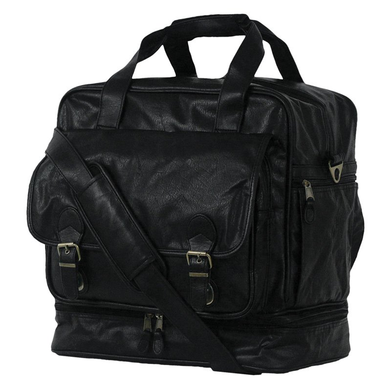 Simulated Leather Carry All Locker Bag