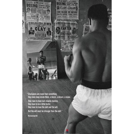 Small Hanging Pyramid Top (Muhammad Ali-Training in the Gym, Sports Poster Print, 24 36-Inch Small (24x36) Unframed..., By Pyramid America Ship from US )
