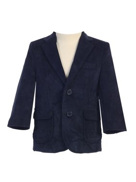 Big Boys Navy Two Button Corduroy Blazer 8