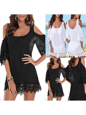 6b54373929b Product Image US New Sexy Women Lace Crochet Bathing Suit Bikini Swimwear  Cover Up Beach Dress