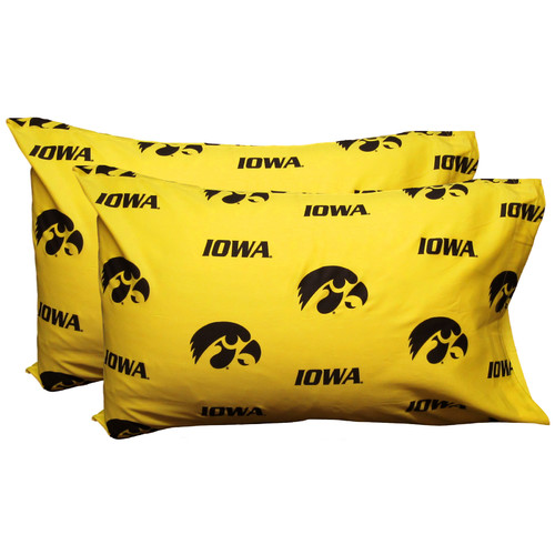 College Covers NCAA Iowa Hawkeyes Pillowcase (Set of 2)