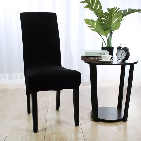 Spandex Stretch Dining Chair Covers Protector Washable Seat Slipcover For Room Kitchen Black