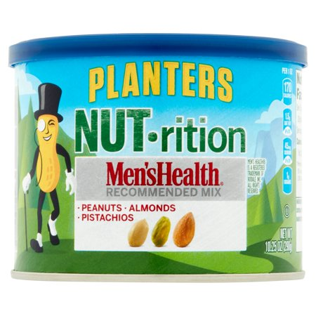 Planters Nut Rition Mens Health Recommended Mix  Peanut  Almond  Pistachio  10 25 Oz  290G