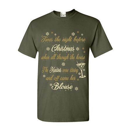 Night Before Christmas Martini T Shirt Ugly Christmas Shirts