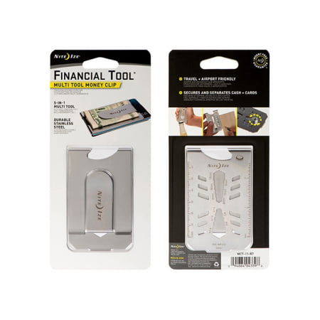 Nite Ize - Financial Tool® Multitool Money Clip (Best Multitool For The Money)